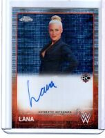 WWE Lana RC 2015 Topps Chrome Pulsar Authentic Autograph On Card SN 13 of 75