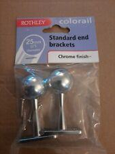 ROTHLEY COLORAIL STANDARD END BRACKETS CHROME FINISH - 25mm