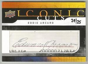 Eddie Arcaro 2008 UD FOOTBALL ICONIC CUTS AUTOGRAPH CARD #/25 SIGNED Jockey AUTO