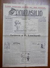 DON BASILIO 5 Dicembre 1948 Tripoli Spano e Padre Lombardi Gonella Luigi Scremin