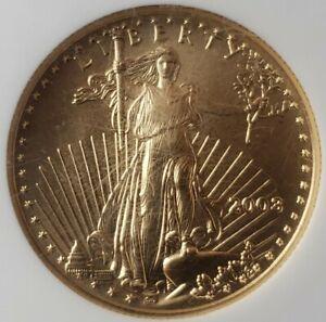 2003 $25 1/2oz Gold American Eagle NGC MS70