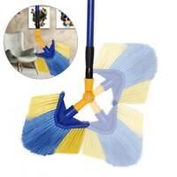 Extendable Cobweb Brush Adjustable Angled Head Feather Duster Telescopic Handle