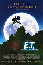 E.T. THE EXTRA-TERRESTRIAL (1982) ORIGINAL DVD MOVIE POSTER  -   ROLLED