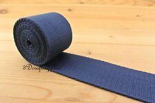 cotton webbing 5 yards 2 inch(50mm) heavy weight Dark Blue ZD84