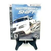 Need For Speed Shift Sony PlayStation 3 Complete Game Case Manual Excellent!