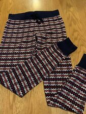 Gap Body Fair isle long john pajama Sleep Leggings  size XS