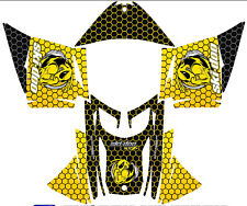 SNOWMOBILE SKI DOO DECAL STICKER WRAP KIT REV,XP, XR,XS,XM 03-16 HONEYCOMB