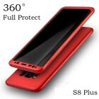 New 360° Case For Samsung Galaxy s8 Plus + Red Bundled