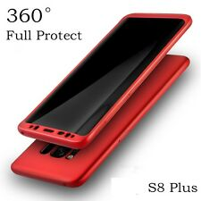 New Quality 360° Case For Samsung Galaxy s8 Plus + Red Bundled