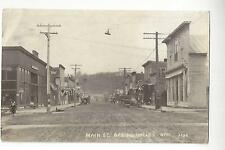 1921 Spring Valley, Wisconsin, Main St. RPPC