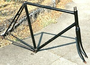 Vintage 70's Raleigh Professional /Unknown? Road Frame Fork 60cm Zeus Campagnolo