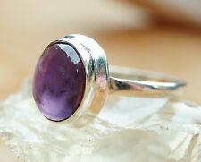 Silberring Handarbeit Amethyst Lila 51 Ring Silber Modern Zeitlos Glänzend Edel