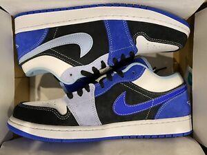 Size 10 - Jordan 1 Low Black/Blue/Light Blue/White