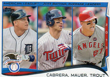2014 Topps Mike Trout League Leader