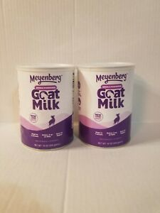 Meyenberg Whole Powdered Goat Milk 12oz Lot of two cans Exp:05/29/24 Free shippi
