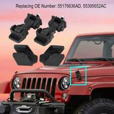 2 Set of Hood Latch Safety Catches&Brackets for Jeep Wrangler TJ 97-06 55176636A