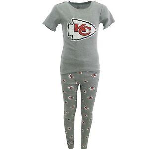 Kansas City Chiefs NFL Youth Kids Size 2 Piece Pajama Pants & T-Shirt New