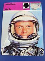 Vtg 1980 Panarizon Printed in Italy John Glenn Orbital Space NASA Trade Card
