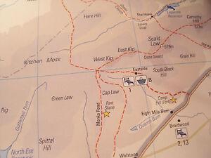 PENTLAND HILLS MAP & GUIDE