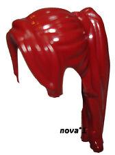 Lego Femme Fille Queue de Cheval Rouge Foncé Cheveux Longs avec Frange côté minifigure