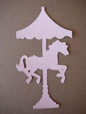 scrapbooking embellishment one horse carasel in vintage pink