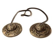 """1 Paar Zimbeln """"Chappa"""" Buddha Ritualgegenstand tibetisch aus INDIEN TIBET"""