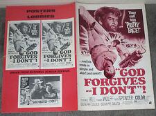 GOD FORGIVES I DON'T original 1969 movie pressbook TERENCE HILL/BUD SPENCER