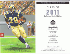2011 Marshall Faulk goal line art card St. Louis Rams