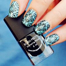 6ml Black Born Pretty Nail Art Stamping Plate Polish Manicure Design Varnish