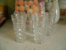 5 Sweet Vintage Clear Cut Crystal Shot Cicchetti Glasses made in Italy