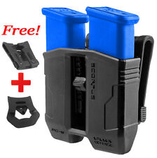 PG.45 Fab Defense Black Double Magazine Pouch for Glock (.45 cal) 21, 30, 36, 41