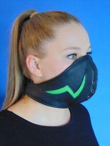 Rind Leder Mund Bedeckung Wind-Schutz Gesichtsmaske Steampunk Biker Maske *A*tg