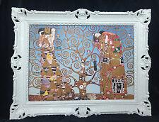 CUADRO CON MARCO Gustav Klimt El beso / Árbol OF LIFE CUADRO 90x70 - imágenes
