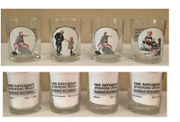 VINTAGE Norman Rockwell Saturday Evening Post Drinking Glasses Set of 4