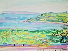 Robert SAVARY - Peinture originale - Gouache - cote d'azur