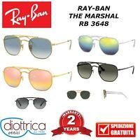 RAYBAN RB 3648 THE MARSHAL OCCHIALE DA SOLE OCCHIALI UOMO DONNA SPECCHIO POLAR