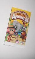carte collector animée animaux (Cora / match) 41 / 47 versions encore disponbles