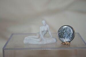 Miniature Dollhouse French Bisque Porcelain Nude Figurine Artisan 1:12 NR