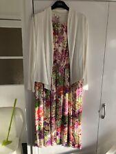 Flower Dress And Cardigan