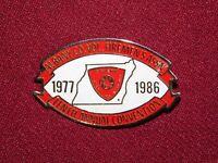 VINTAGE PIN PINBACK 1977 1986 RAVENA HOSE CO NY ALBANY VOLUNTEER FIREMEN'S ASSOC