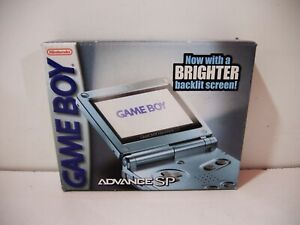 Console Nintendo Game Boy Advance SP US GBA AGS-101 pearl blue bleu perle
