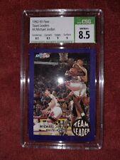 Michael Jordan 1992-93 Fleer Team Leaders #4 CSG 8.5 NM-MT+ with sub grades