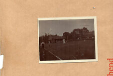 Real photo Edwardian Ladies playing Tennis Small postcard 105mmx90mm unposted ao