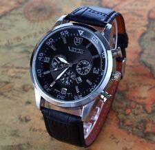 Reloj De Pulsera Hombre Caballero Analógico Plateado Negro Watch Men