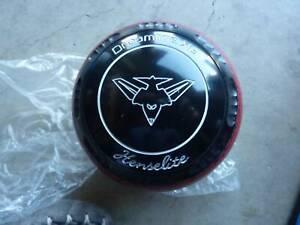 HENSELITE XG AFL Essendon lawn bowls, size 3, gripped NEW, WB30
