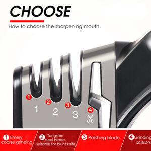 Knife Sharpener 4 Stage Scissors Diamond Knives Kitchen Tool Sharp For-UK