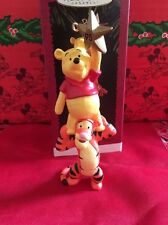 Christmas Disney Hallmark Keepsake Winnie The Pooh & Tigger Ornament In Box
