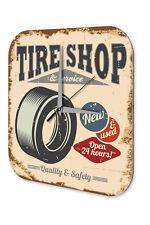 Wall Clock Garage Vintage Design  Tyre shop Acryl Acrylglass