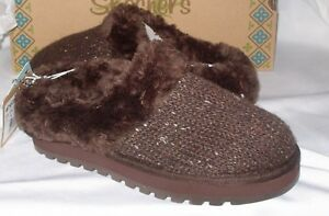 Skechers Size 7 Chocolate Brown Slides New Womens Shoes