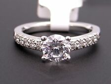 Scott Kay Platinum Round Diamond Engagement Promise Ring M1061 Semi Mounting